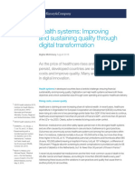 Health Systems Improving and Sustaining Quality Through Digital Transformation