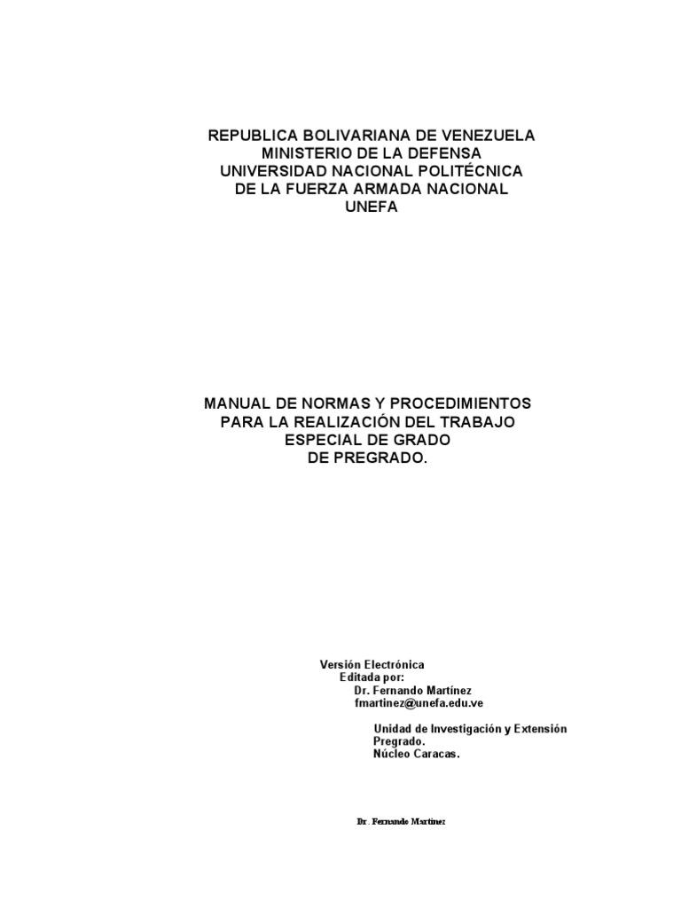 Manual de Tesis de Pregrado Unefa[1] Version Electronic A 2004 (1)
