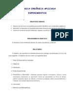 Apostila Experimental de Quimica Organica