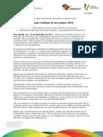01 12 2011- El gobernador de Veracruz anunció el Catálogo de Inversiones 2012