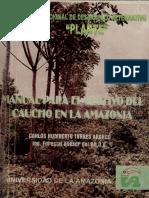 Manual para el cultivo de Caucho en la Amazonia Plante 1999