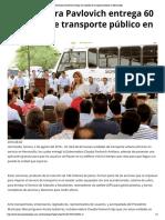 02-08-16 Gobernadora Pavlovich entrega 60 unidades de transporte público en Hermosillo. -Termómetro