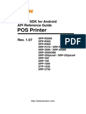 Manual POS Printer SDK for Android API Reference Guide