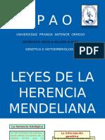 herencia mendeliana... mejor diapositva UPAO