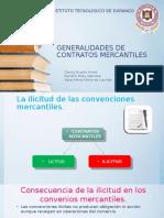Generalidades de Contratos Mercantiles