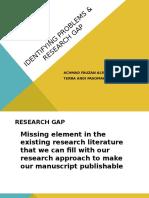 Kelompok 1 - Presentation - Identifying Problems & Research Gap