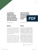 La calidad del hábitat para la vivienda de interés social. Soluciones desarrolladas entre 2000 y 2007 en bogotá.pdf