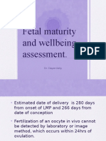 Fetal Maturity Wellbeing Midwife
