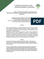 Análisis Comparativo en Términos de Retardo y Rendimiento de Un Sistema de Transmisión en Vivo de Video Entre Redes IPv4, IPv6 y Doble Pila