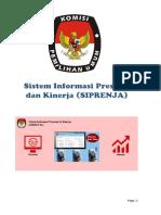 Buku Manual Sistem Informasi Presensi & Kinerja - SIPRENJA KPU