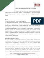 Tecnicas Del Proceso de Elaboracion Del Papelon