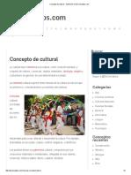 Concepto de Cultural - Definición en DeConceptos