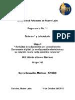 Quimica 1 y Laboratorio Etapa 3 Actividad de Adquisición Del Conocimiento