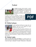Tipos de Futbol