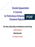 Carbon Dioxide Sequestration in Concrete - Shao