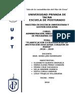 Plan Estratégico - Iep Corazon de Maria