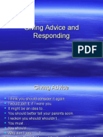 Giving Advice and Responding