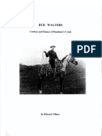 Bud Walters - Cowboy and Pioneer