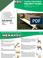 Folding Picnic Table_bench