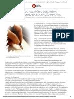 A Importância Do Relatório Descritivo Individual Do Aluno Da Educação Infantil - Artigos de Educação e Pedagogia - Portal Educação
