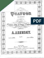 A. Arensky - String Quartet Nº 2 Op. 35 - Cello 2