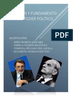Origen y Fundamento Del Poder Político