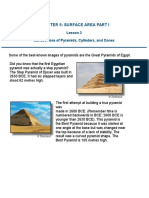 surface area of pyramids cylinders and cones notes and examples