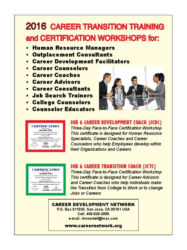 Career Coach Certification Jctc Counseling Psychology Motivation
