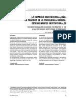 La infancia institucionalizada. La práctica de la Psicología Jurídica. Determinantes Institucionales.pdf