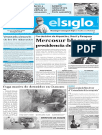 Edición Impresa Elsiglo 15-09-2016