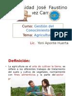 Evolución de la agricultura
