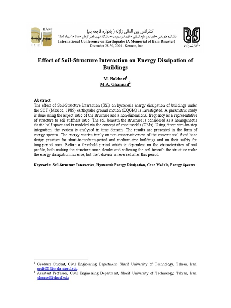 Effect of Soil-structure Interaction on Energy Dissipation of