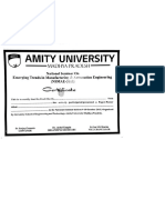 Certificate for Printing
