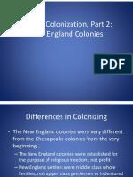 english colonization new england  1