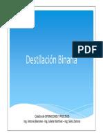 CLASE - Destilacion Binaria