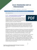Studi Kasus Implementasi ERP Di Indonesia