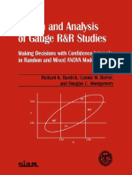 Design & Analysis of Gauge R&R Studies