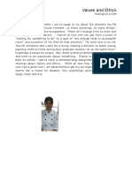 Values and Ethics Journal by Laarni Lourdes B. Andam