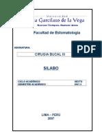 Silabo de Cirugia Bucal III