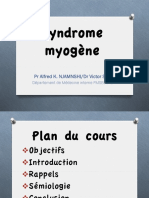 Syndrome Myogène 2013