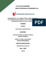 MANTENIMIENTO VIAL-URBANO PARA LA REDUCCIÓN DE LA  CONTAMINACIÓN DEL AIRE EN LA ZONA COMERCIAL DE LA  UNIVERSIDAD CÉSAR VALLEJO, COMAS 2014