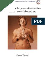 Analisis de La Percepción Estética Desde La Teoría Bourdiana