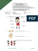 Soal Uts i k13 Kelas 1 Tema 1 by Efullama
