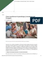 Cómo Transformar El Aprendizaje y La Enseñanza Del Evangelio - Noticias y Eventos de La Iglesia