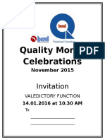 Quality Month Invitation Front Valedictory