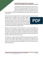 India Renewable Energy Sector Analysis