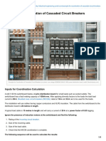 Electrical-Engineering-portal.com-Example for Coordination of Cascaded Circuit Breakers