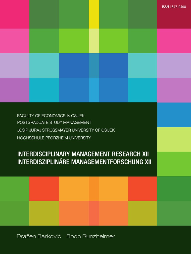 Interdisciplinary management research xii business intelligence data fandeluxe Image collections