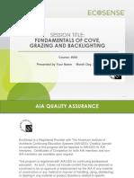 EcoSense AIA PresentationFINAL (2015) Fundamentals of Cove, Grazing and Backlighting