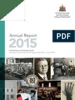 RANZCR Annual Report 2015